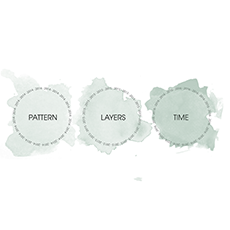 Logotyp Pattern Layers Time